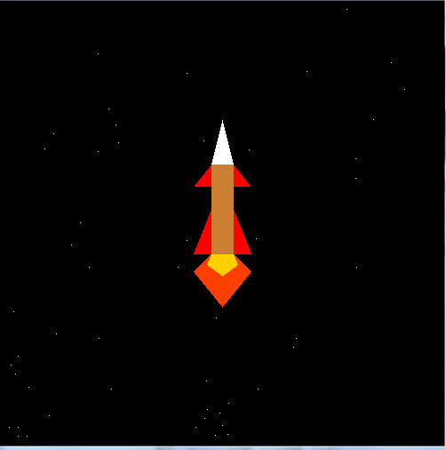 OpenGL Projects: Journey of Space Shuttle or Rocket