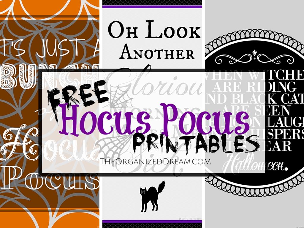 free hocus pocus printables the organized dream