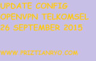 (UPDATE) Config OpenVPN Telkomsel 26 September 2015
