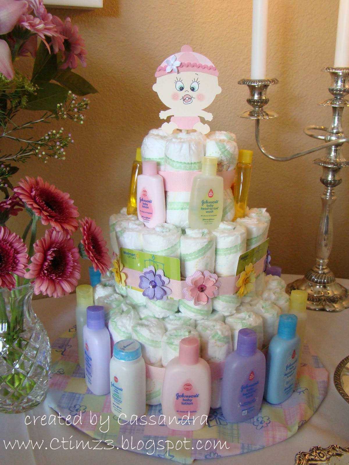 CREATING with COLOR by CASSANDRA Wel e Sweet Baby Diaper Cake