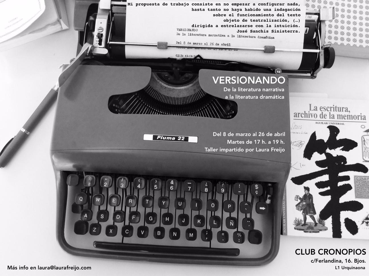 ¡Nuevo taller de escritura teatral VERSIONANDO!
