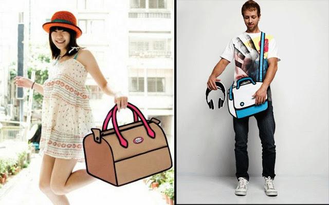 Modelos con el bolso creativo Jumpfrompaper