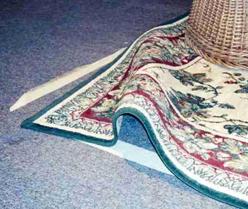 Karpet Terlipat membahayakan keselamatan kerja