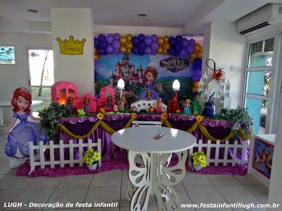tema da Princesinha Sofia para decoração de festa infantil