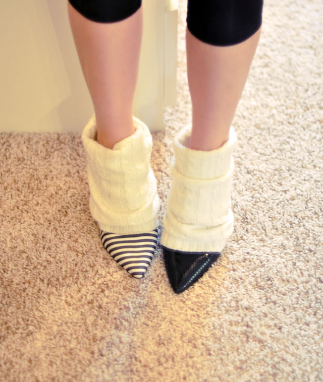 leg warmers with pumps