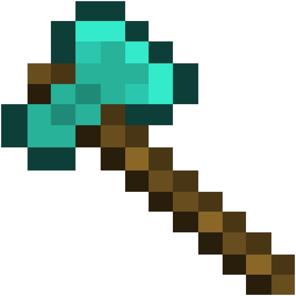 Как сделать топор алмазный в майнкрафте