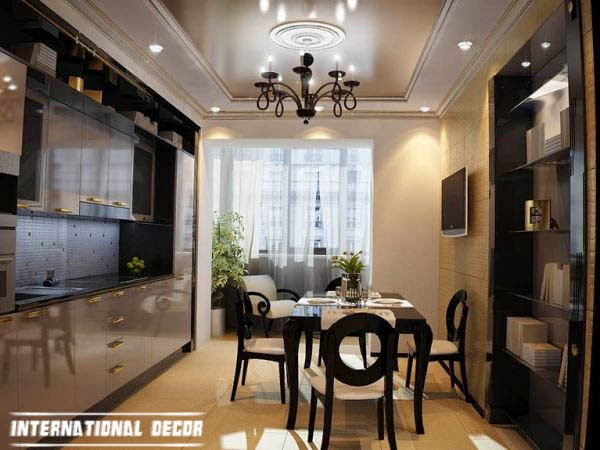 Art Deco kitchen designs and furniture, dining-kitchen sets