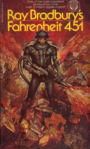 """ray bradburys technological predictions in literature The opening line witnesses to the atmosphere bradbury could create in his writing: """"it was a pleasure to burn"""" 7 immediately, fahrenheit 451 offers something tangible as well as sensate charged with burning literature, thus destroying the past, its sentimentalities and romanticisms, guy montag."""
