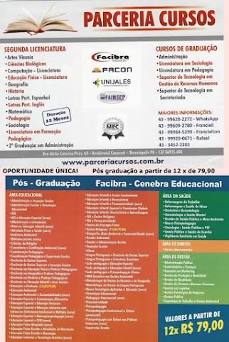 PARCERIA CURSOS - Faça sua segunda licenciatura em apenas 1 ano!