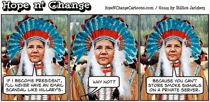 obama, obama jokes, political, humor, cartoon, conservative, hope n' change, hope and change, stilton jarlsberg, elizabeth warren, native american, smoke signals, hillary, email