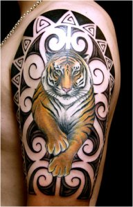 tattoo tigre e tribal