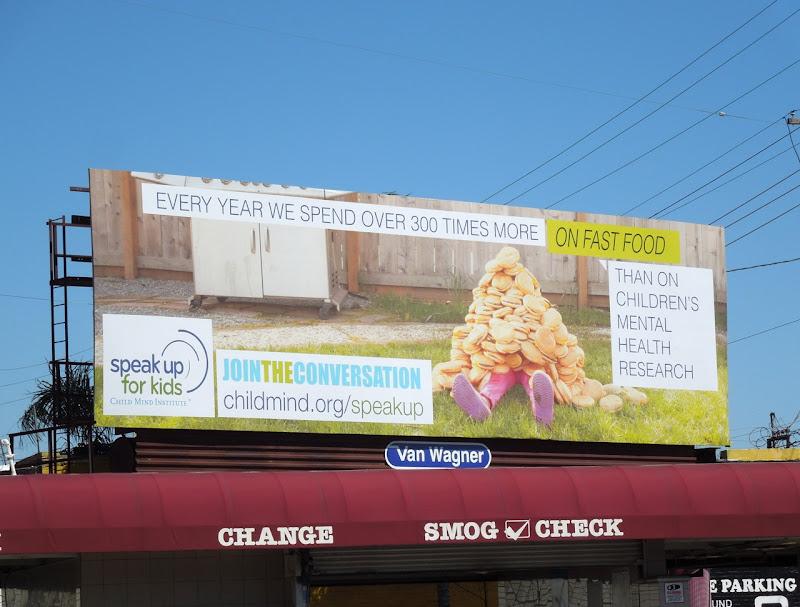 Speak up for Kids fast food billboard