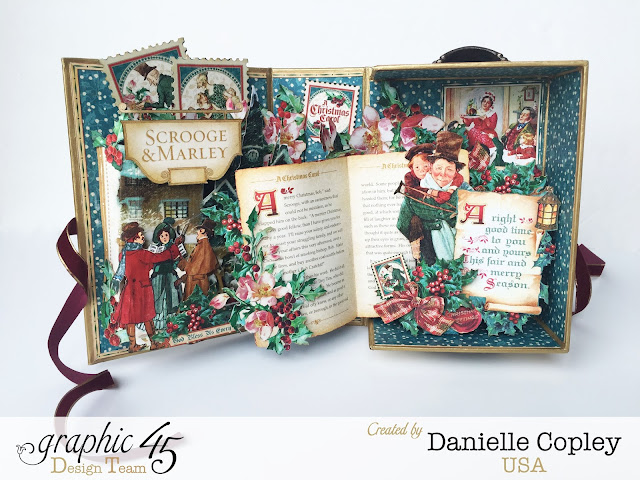 scrapbookmaven.com Graphic 45 Christmas Carol Pop-up Shadow Box
