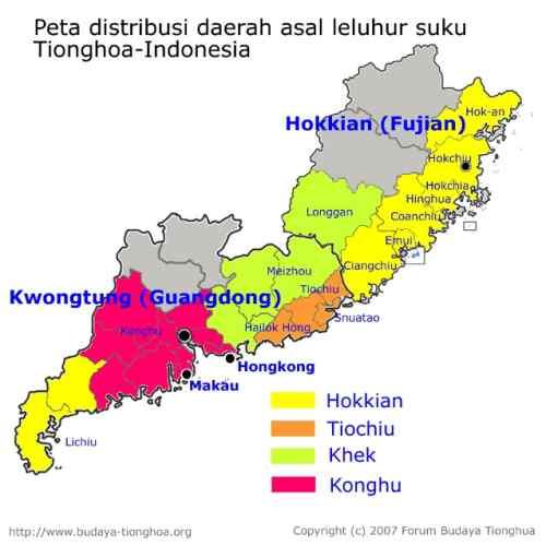 Suku-suku Tionghoa yang Ada di Indonesia