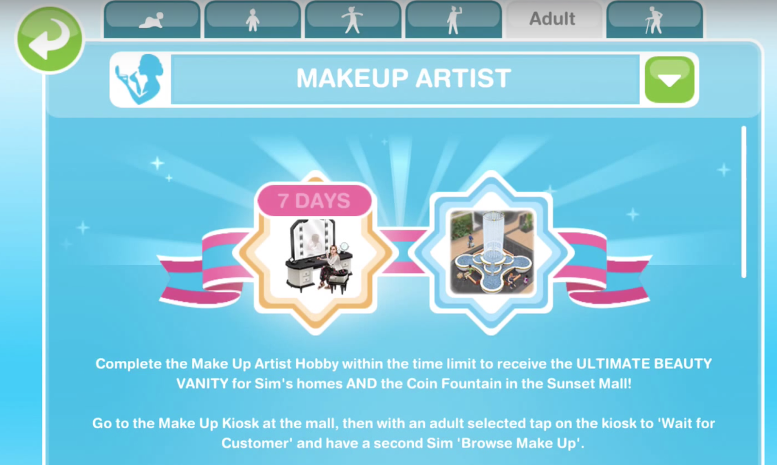 How To Use Coffee Maker In Sims Freeplay : Sims Freeplay Make Up Artist Hobby Glitz And Glam ...