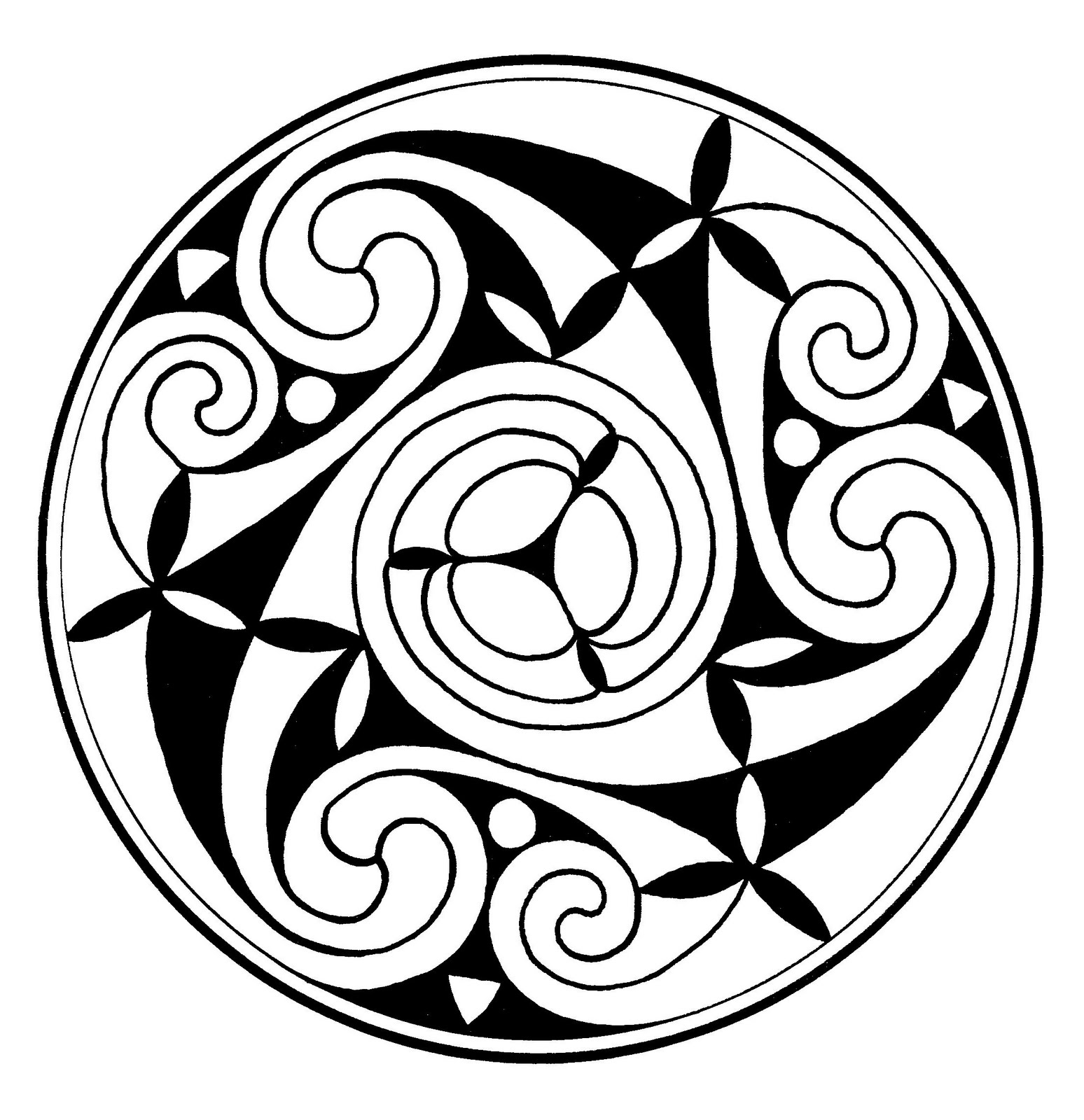 Vistoso Página Para Colorear Celta Motivo - Dibujos Para Colorear En ...