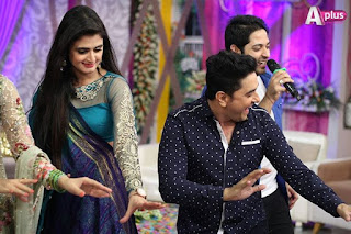 Celebrities on Eid Day 3 with Maya Ali & Meekal Zulfiqar on Aplus Kashif, Hira, Mani, Rambo, Sahiba, Humera Arshad, Ahmed Ali