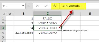 Detectar celda con fórmula en Excel.