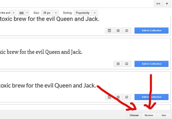 Cara cantikkan blog dengan jenis font