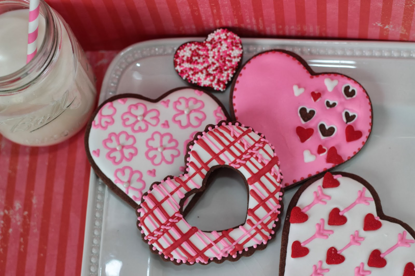 plaid valentine cookie