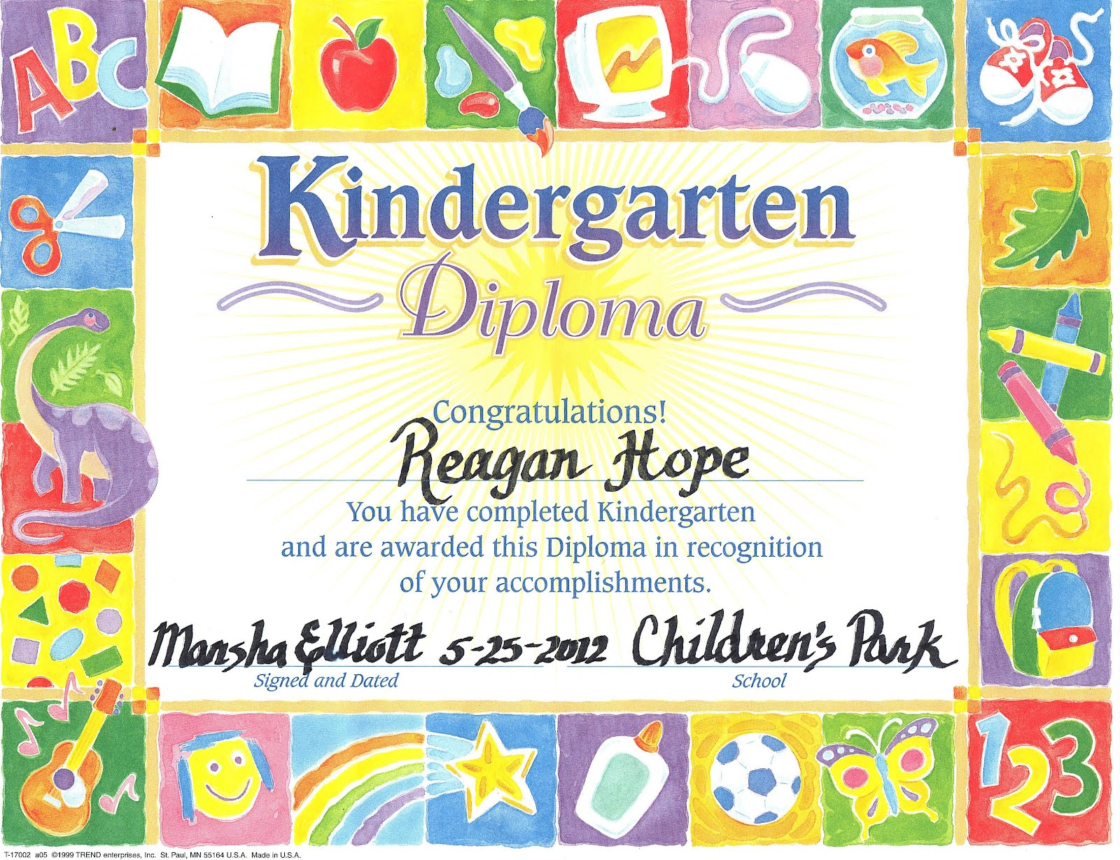 Printable Preschool Graduation Certificate Zrom