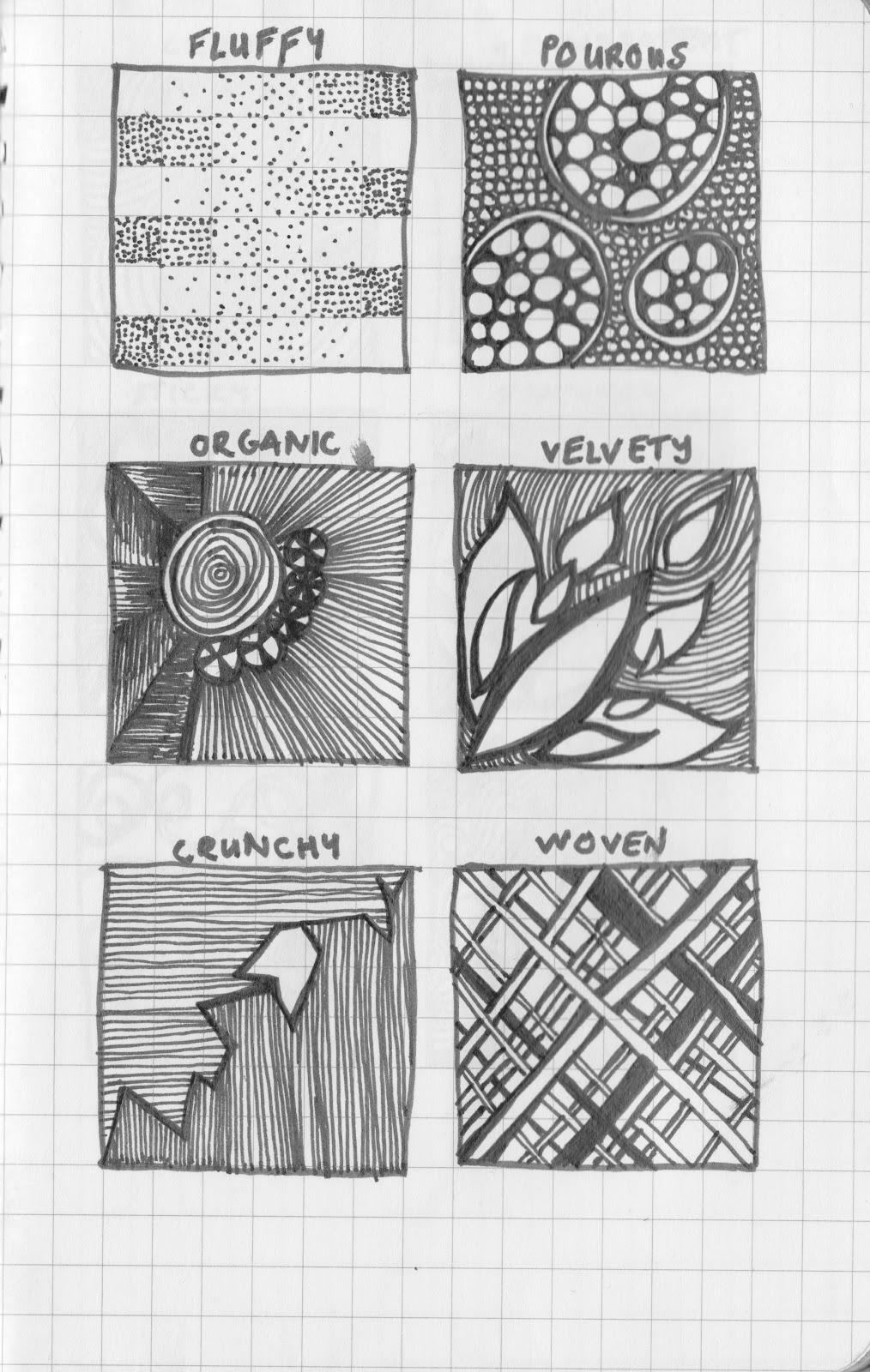 Kathryn George Texture Drawings