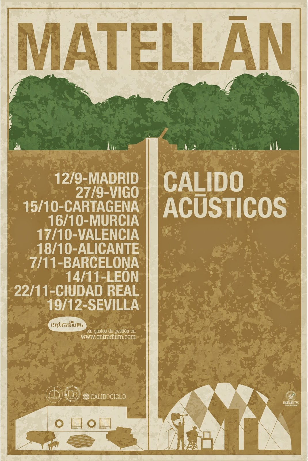 Cartel gira Matellán