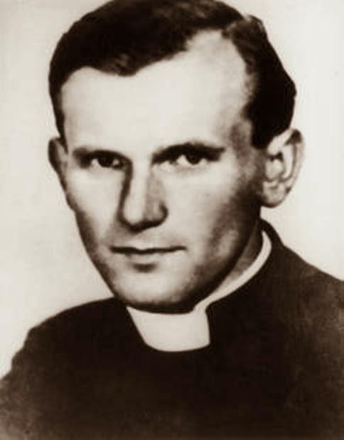 El sacerdote Karol Wojtyla