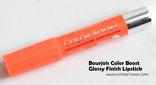 Review: Bourjois Color Boost Glossy Finish Lipstick - Orange Punch