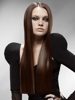 cabello largo para cara redonda