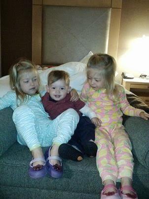 Clara, Olivia and Andrew