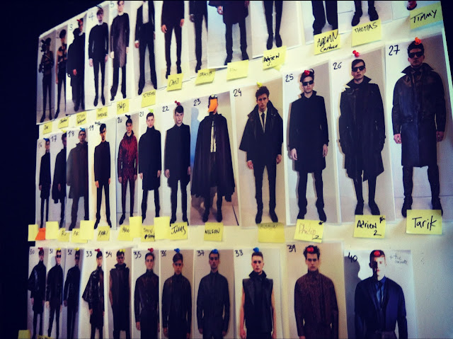 Fashion MUGLER FALL WINTER 2012 2013 BACKSTAGE PARIS MENS FASHION WEEK