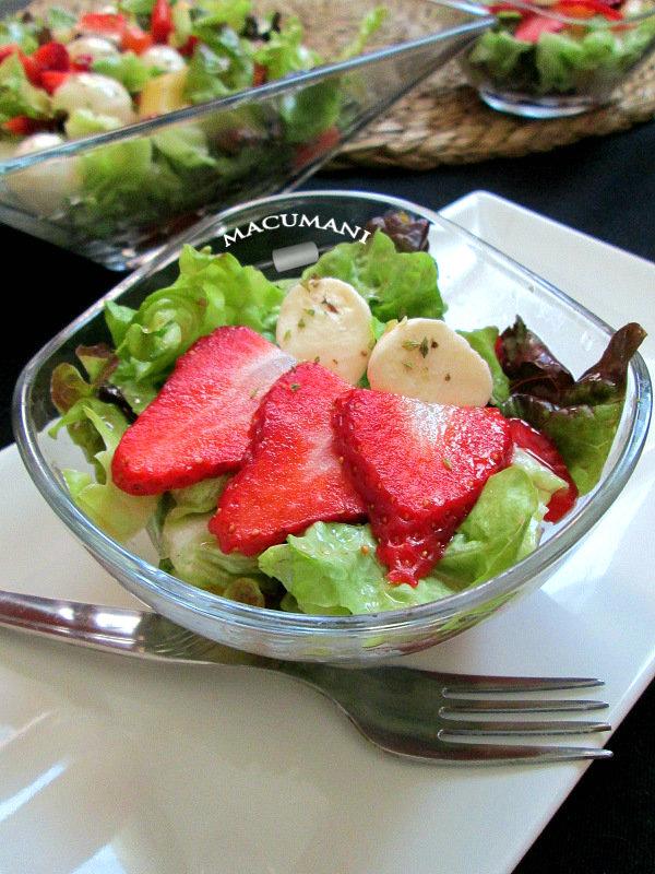 ensalada de fresas