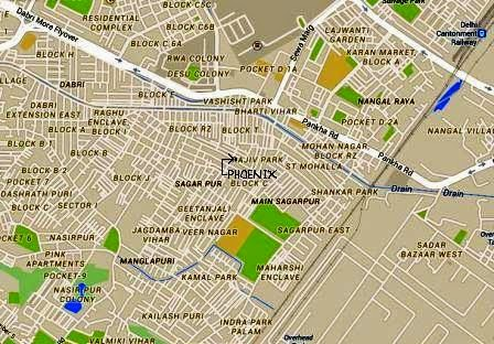 "Location in map of PHOENIX - A Multi Speciality Homoeopathic Clinic run by Bakson's alumnus catering to residents of Sagarpur, Delhi Cantt, Palam Colony, Uttam Nagar, Nangal Raya, Lajwanti Garden and around Pankha Road (Mahavir Enclave, Manglapuri, Dabri, Vaishali Colony, Indra Park etc.) in suburban South West Delhi. Treatment is available with the Consultant Physician for ""All Chronic Diseases And Allergies"". Patients of Hans Park, Shankar Park, Geetanjali Park, Madan Puri, Vashisht Park, Sadh Nagar, Raja Puri, Vijay Enclave, Raghu Enclave, Vashisht Park, Bharti Vihar, Mohan Nagar, Rajiv Park, Maharshi Enclave, Kamal Park, Jagdamba Vihar, Veer Nagar, Geetanjali Enclave, St Mohalla, Gandhi Market, DESU Colony Janakpuri may visit for Speciality ailments."