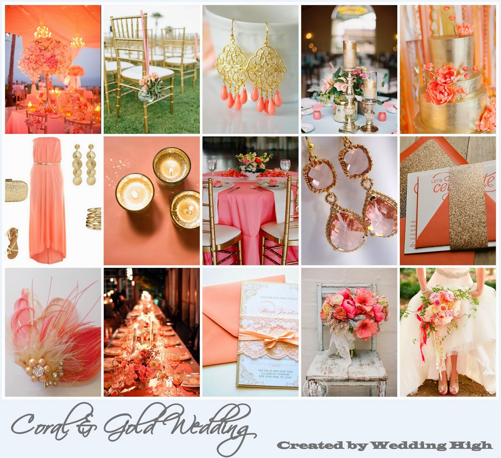 Coral Wedding: » Romantic Coral & Gold Wedding Inspiration