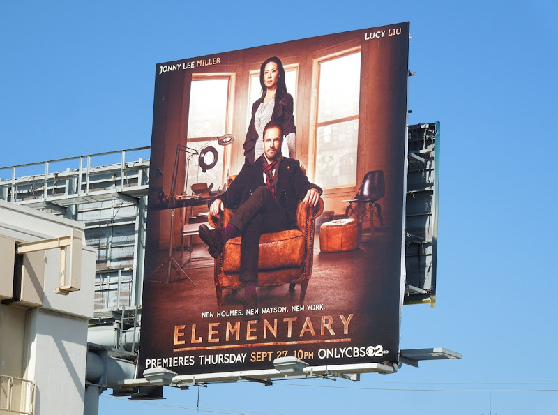 Elementary season 1 CBS billboard
