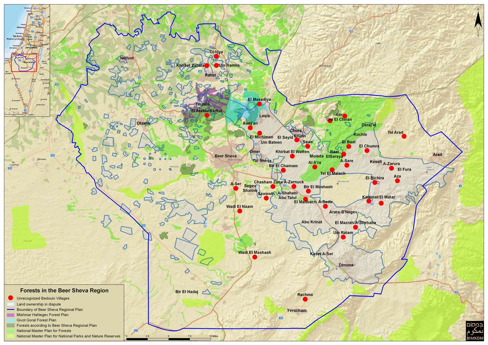 Negev Desert Map