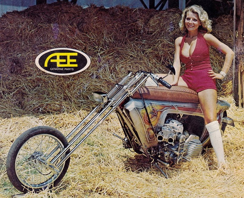 Vintage Mini Bike Chopper : Mc art motorcycle the force was with him