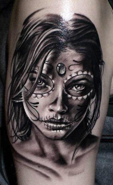 31 desenhos catrina leles tattoo - Santa muerte tatouage signification ...