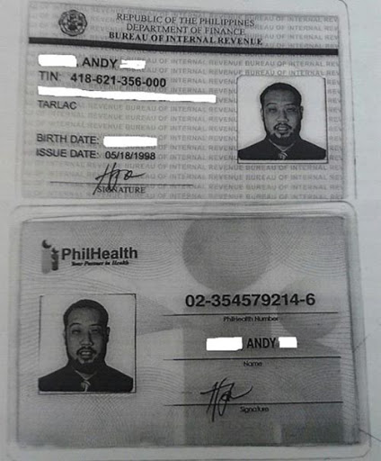 Impersonator using philhealth and bir id