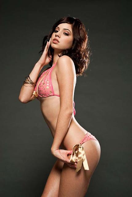 Gabby Jeanne in pink lingerie