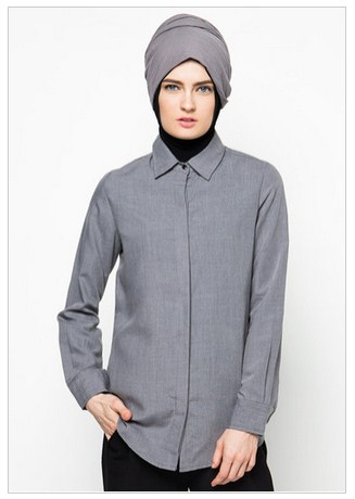 model desain kemeja muslimah modern grosir