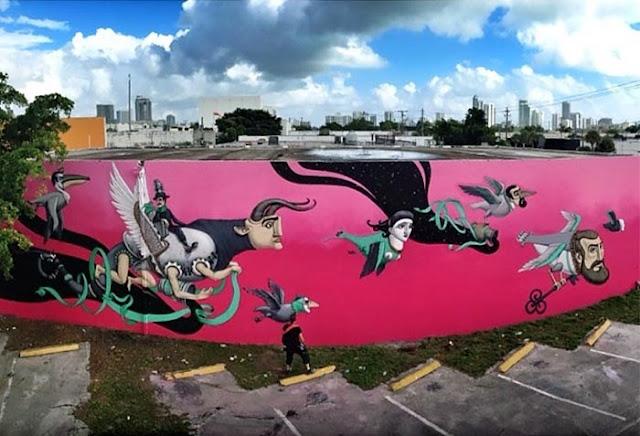 Street Art By Ukrainian Urban Artist Kislow For Art Basel Miami 2013 in Florida. 1