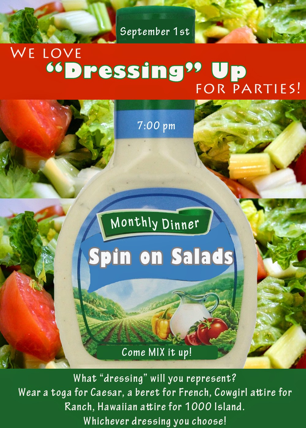 Invite and Delight: Spin on Salads Party