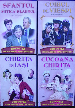 Colectia ,,Mari actori, mari comedii,, de la ziarul Libertatea