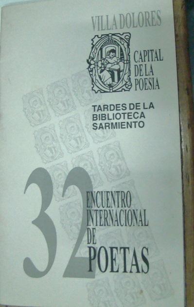 32° Encuentro Internacional de Poetas
