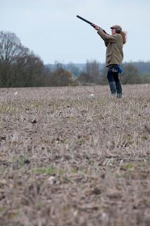 Farm clay pigeon shoot