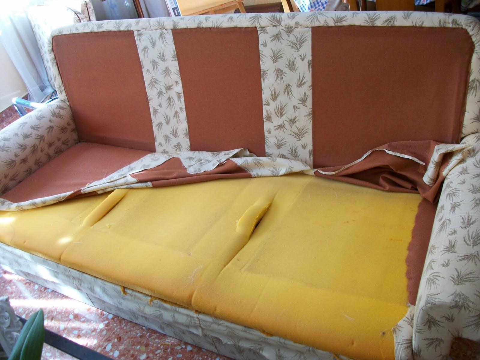 Restauraci n el palisandro tapizar un sof Como forrar un sofa viejo