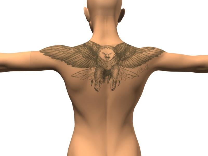 Potter tattoos eagle tattoo designs for Eagle tattoo on back