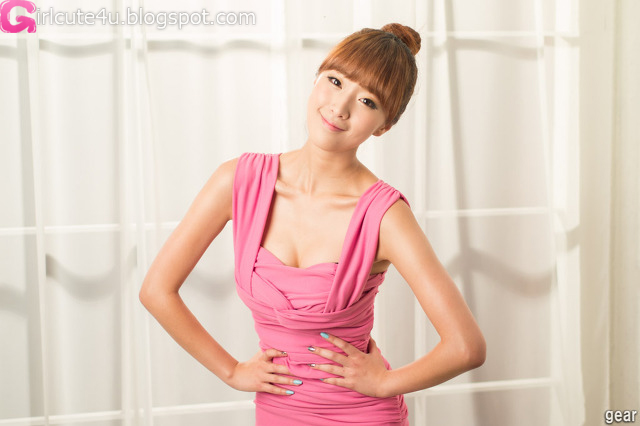 5 Minah in Pink Mini Dress-very cute asian girl-girlcute4u.blogspot.com